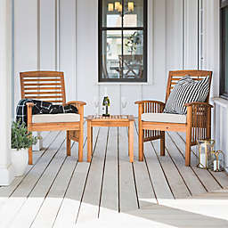 Forest Gate Arvada 3-Piece Acacia Wood Outdoor Chat Set