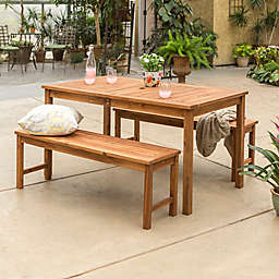 Forest Gate Arvada 3-Piece Acacia Wood Outdoor Dining Set