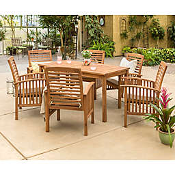 Forest Gate Arvada 7-Piece Acacia Wood Outdoor Dining Set