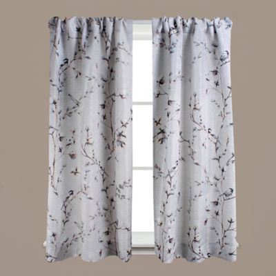 Saturday Knight Willows Rod Pocket Window Curtain Panels In Neutral