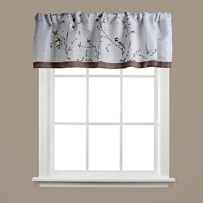 Alternate image 1 for Saturday Knight Willows Rod Pocket Window Valance in Neutral