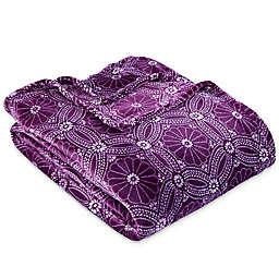 Berkshire Blanket® VelvetLoft® Dot Floral Blanket