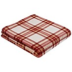 Harvest Plaid 50-Inch x 60-Inch Throw in Rust