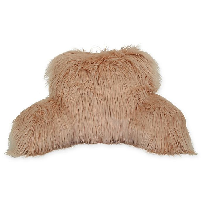 Alternate image 1 for Flokati Faux Fur Backrest in Blush
