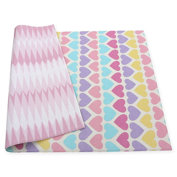 Alternate image 1 for BABY CARE™ Reversible Hearts Playmat in Pink