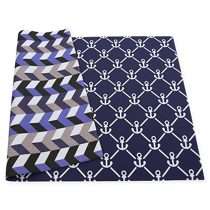 Alternate image 1 for BABY CARE™ Reversible Anchors Playmat in Blue