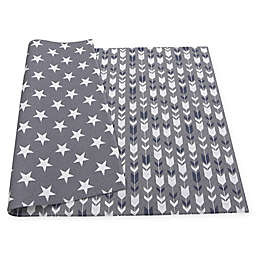 BABY CARE™ Reversible Arrows and Stars Playmat in Grey