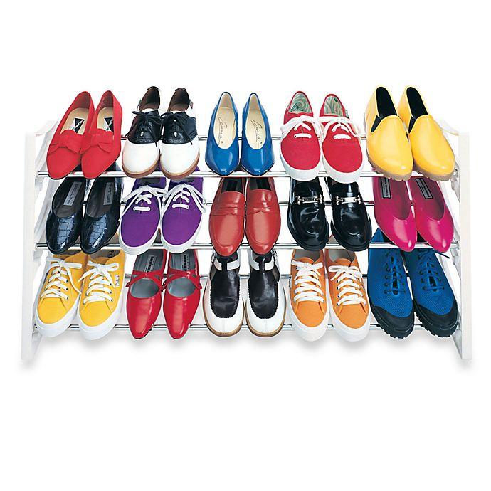 Alternate image 1 for Convertible 15 Pair Shoe Rack