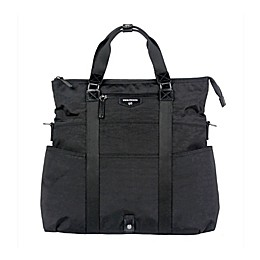 TWELVElittle Unisex 3-in-1 Foldover Tote Diaper Bag in Black