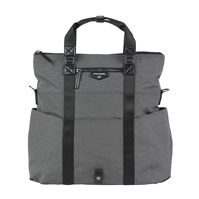 Alternate image 1 for TWELVElittle Unisex 3-in-1 Foldover Tote Diaper Bag in Grey