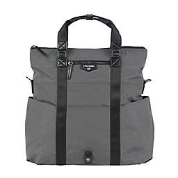 TWELVElittle Unisex 3-in-1 Foldover Tote Diaper Bag in Grey