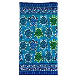 Dena™ Home Turtle Bay Beach Towel in Blue
