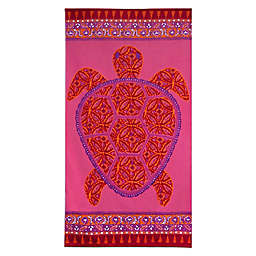 Dena™ Home Sea Turtle Beach Towel in Pink