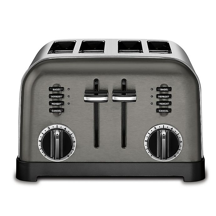 Alternate image 1 for Cuisinart® 4-Slice Stainless Steel Toaster in Black