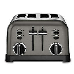 Cuisinart® 4-Slice Stainless Steel Toaster in Black