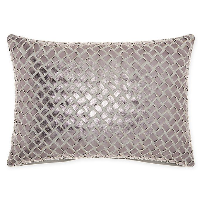 Alternate image 1 for Mina Victory By Nourison Faux Leather Oblong Throw Pillow in Natural
