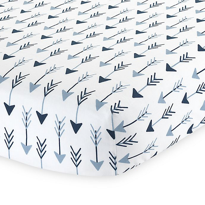 Alternate image 1 for Lambs & Ivy® Stay Wild Arrow Print Fitted Crib Sheet