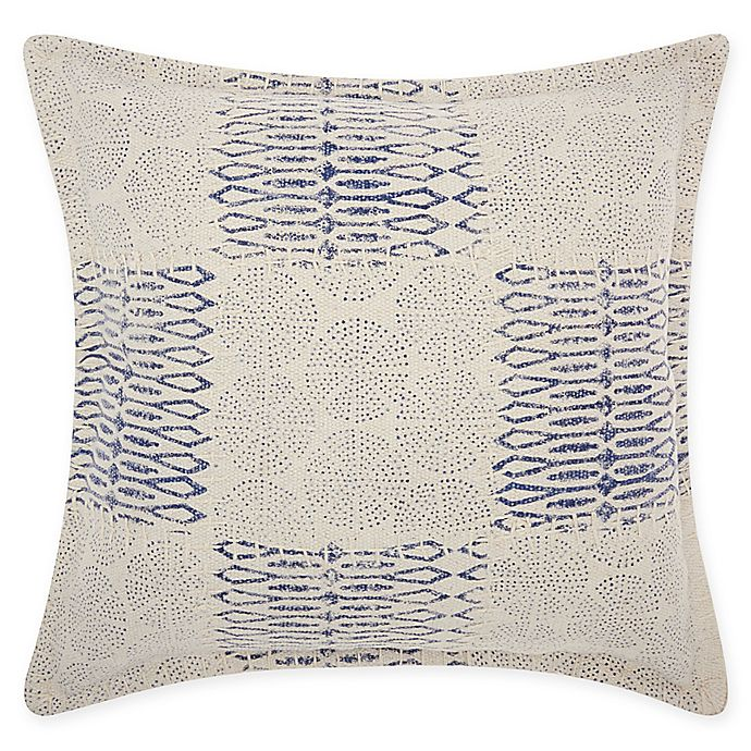Alternate image 1 for Mina Victory By Nourison Circle Patchwork Square Throw Pillow in Indigo