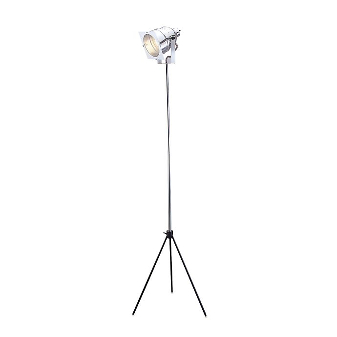 Alternate image 1 for Adesso® Steel Spotlight Floor Lamp with Adjustable Height
