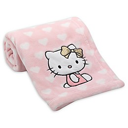 Hello Kitty® Coral Fleece Blanket in Pink