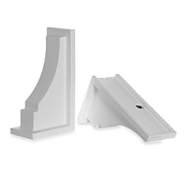 Mayne Fairfield Window Box Decorative Supports in White (Set of 2)