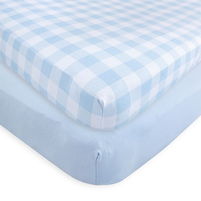 Alternate image 1 for Touched by Nature Organic Cotton Fitted Crib Sheets (Set of 2)