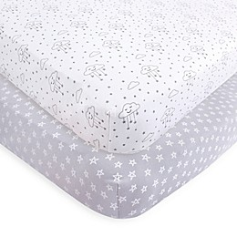 Hudson Baby® 2-Pack Fitted Crib Sheets