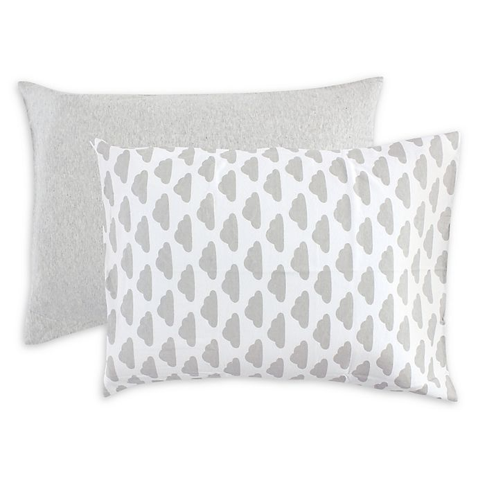 Alternate image 1 for Hudson Baby® Cloud Toddler Pillowcases in Grey (Set of 2)