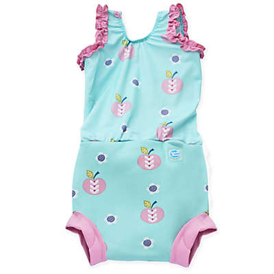 Splash About Happy Nappy™ Apple Daisy Swimsuit in Aqua
