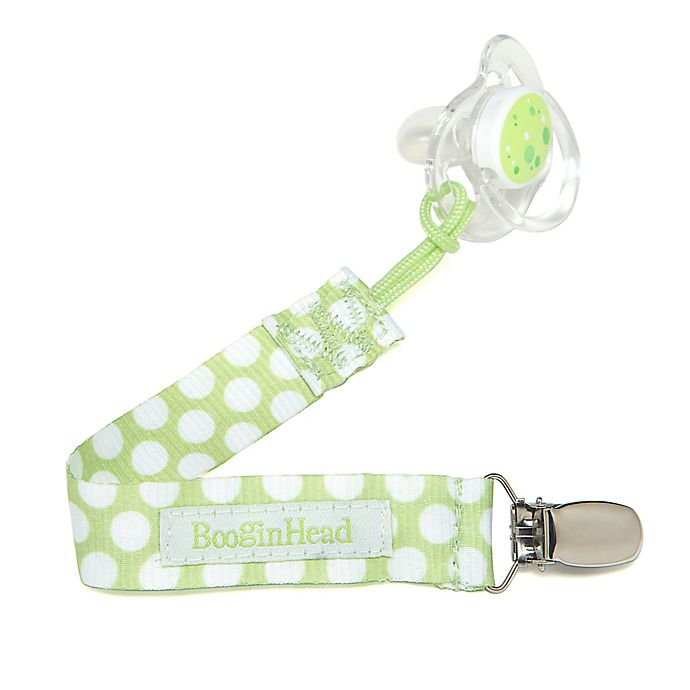 Alternate image 1 for BooginHead® PaciGrip Pacifier Holder in Green Dot
