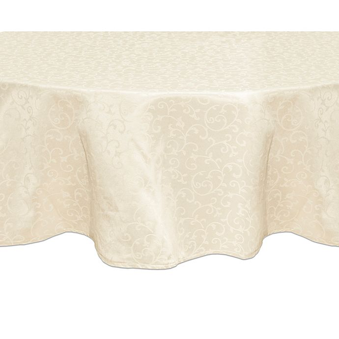 Alternate image 1 for Lenox® Opal Innocence™ 90-Inch Round Tablecloth in Ivory