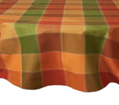 Autumn Check 70 Quot Round Tablecloth Bed Bath Amp Beyond