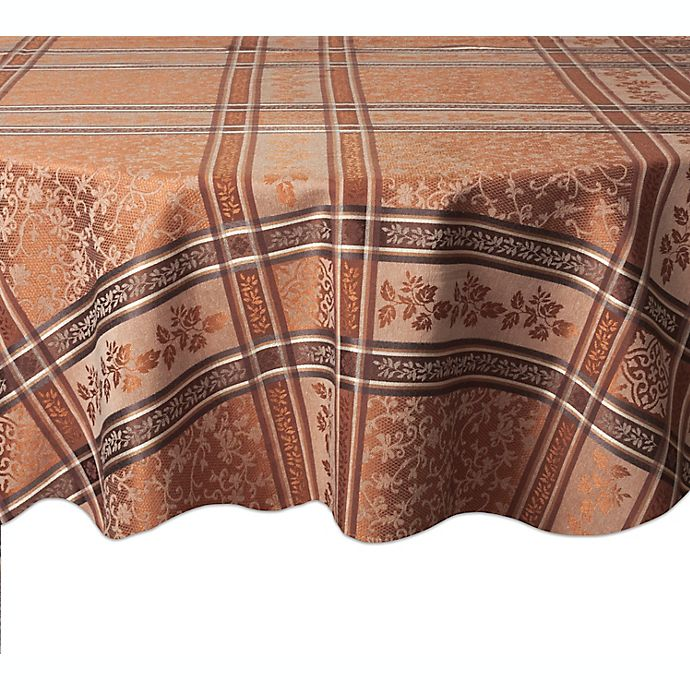 Alternate image 1 for Winchester 70-Inch Round Tablecloth in Copper