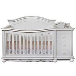Sorelle Vista Elite 4-in-1 Convertible Crib and Changer in White