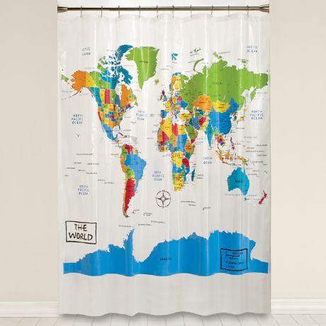 The World Vinyl Shower Curtain