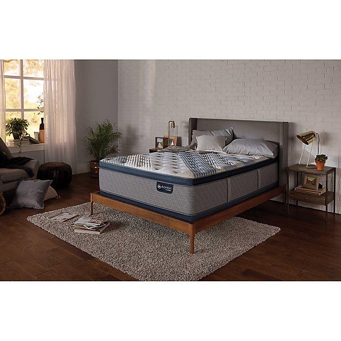 Alternate image 1 for Serta® iComfort® Blue Hybrid 4000 Low Profile King PillowSoft Mattress Set