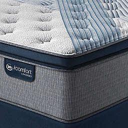 iComfort® By Serta Hybrid Blue 1000 Plush Pillow Top Low Profile Mattress Set