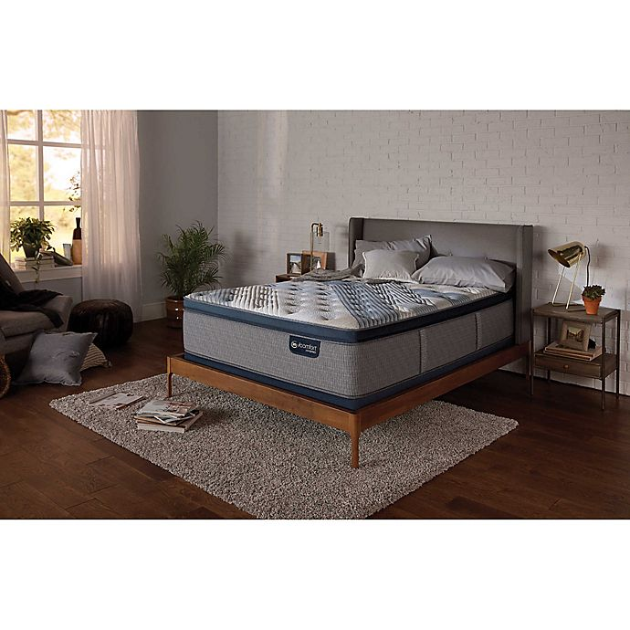 Alternate image 1 for Serta® iComfort® Blue Fusion 3000 Plush Low Profile Queen Mattress Set