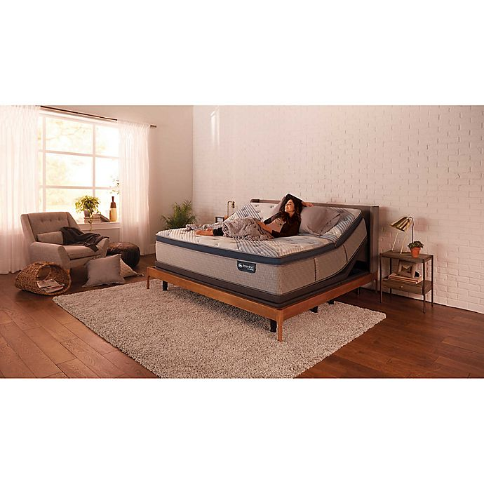 Alternate image 1 for Serta® iComfort® Blue Hybrid 300 Low Profile Pillowtop Twin XL Mattress Set