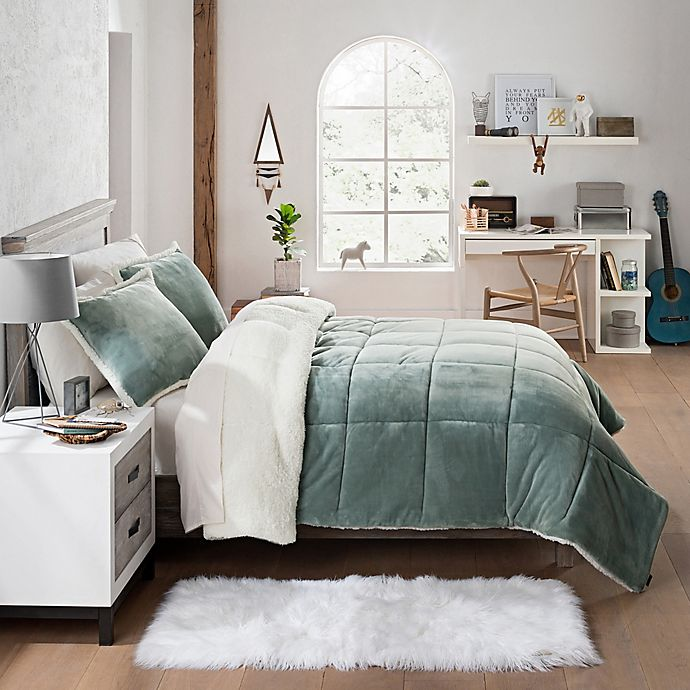 Alternate image 1 for UGG® Clifton 2-Piece Reversible Twin Comforter Set in Agave