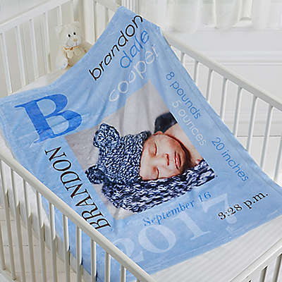 All About Baby Fleece Photo Blanket