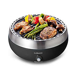 Grillerette Pro Portable Charcoal Grill in Black