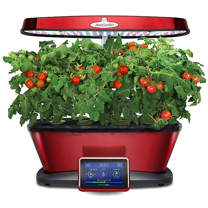 Alternate image 1 for AeroGarden™ Bounty Elite Wi-Fi Home Gardening System in Red