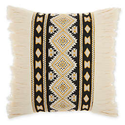 Mina Victory by Nourison Center Diamonds Square Throw Pillow in Cream
