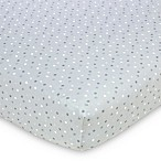 Gerber® Dot Fitted Jersey Crib Sheet in Grey