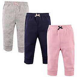 Luvable Friends® 3-Pack Tapered Pants in Pink/Blue