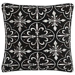 Paris Tile 20-Inch Square Throw Pillow in Black