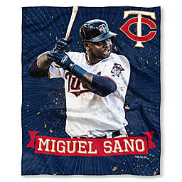 MLB Minnesota Twins Miguel Sano Silk Touch Player Throw Blanket