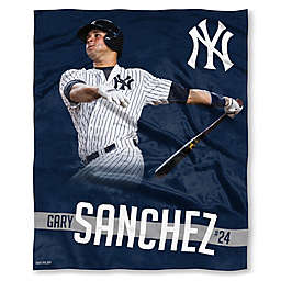 MLB New York Yankees Gary Sanchez Silk Touch Player Throw Blanket