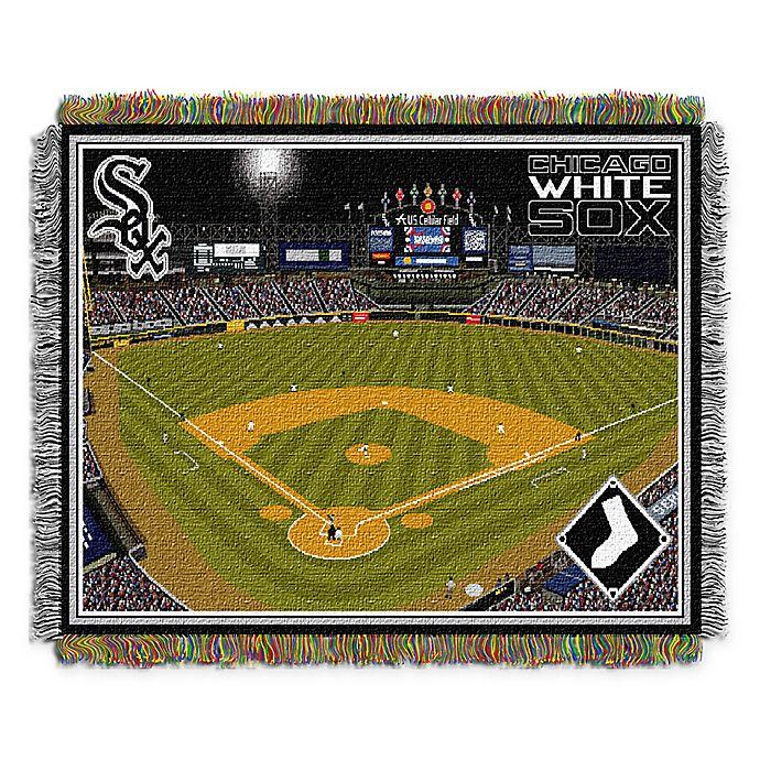 Alternate image 1 for MLB Chicago White Sox Home Stadium Woven Tapestry Throw Blanket